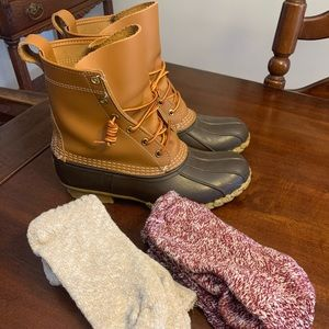 LL Bean Duck Boots Size 9 Womens